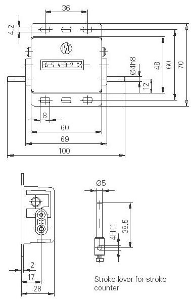 Dimensions Compteurs de rotation U300