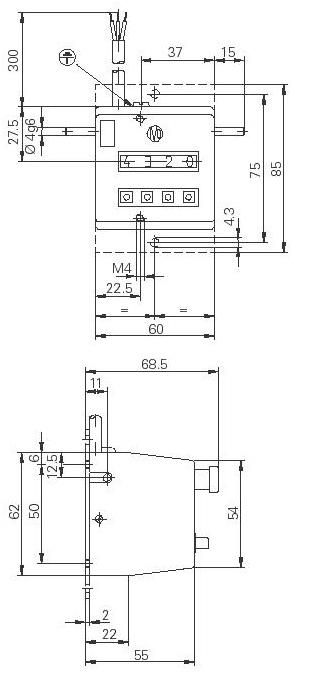 Dimensions Compteurs de rotation UE102