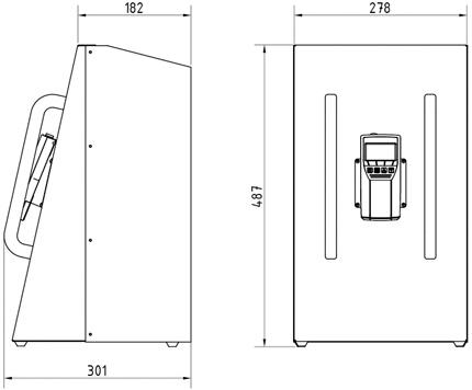 Dimensions Humidimètres pour granulés de bois BM2