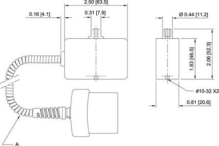 Dimensions Systèmes de couple et de force R03 Series