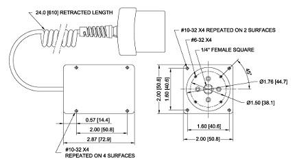 Dimensions Contrôleur de couple pour outils R52 Series