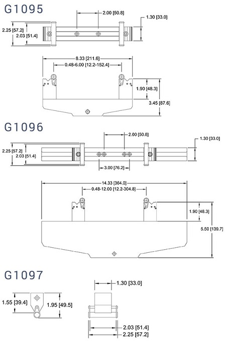Dimensions G1095-G1096-G1097
